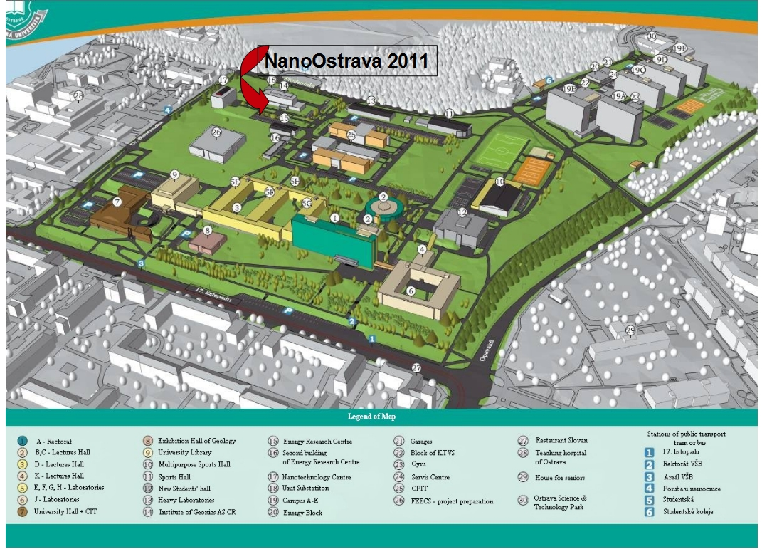 Map of the campus. [ To see the original size click on 1:1 ]